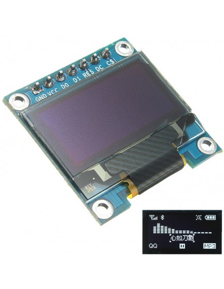 "0.96"" 128X64 OLED LCD Display (I2C, SPI)"