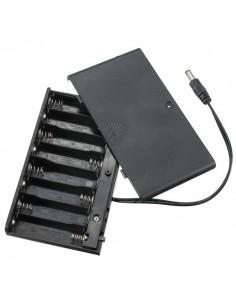 8 x AA Batteries Holder (DC2.1) 12V ON/OFF
