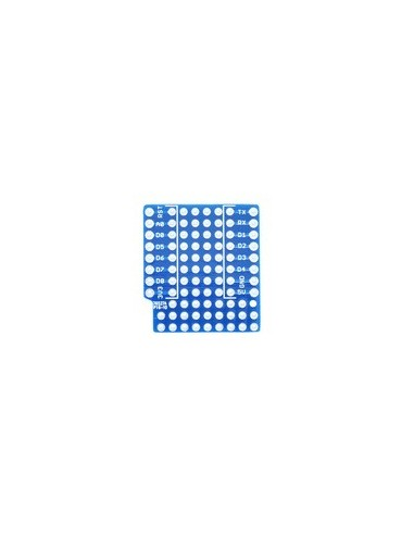 ProtoBoard Shield for WeMos D1 mini double sided perf board