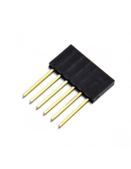 6Px1 11x2.54mm female socket