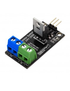 Transistor MOSFET DC Switch, 5V logic, DC 24V/30A with optocouplers