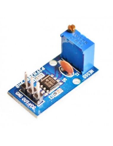 NE555 frequency adjustable pulse generator module