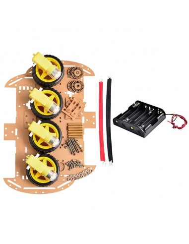 4WD Smart Robot Car Chassis Kits with Speed Encoder