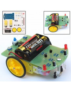 DIY Tracking Robot Car With Reduction Motor