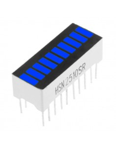 10 Segment digital BLUE LED bar display