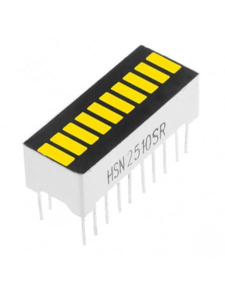 10 Segment digital YELLOW LED bar display