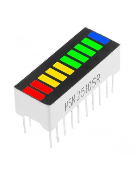 10 Segment digital RYGB LED bar display