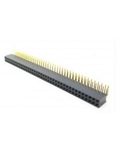 40Px2 6x2.54mm angle female socket