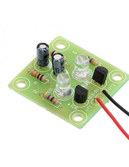 Triode Transistor Multivibrator LED