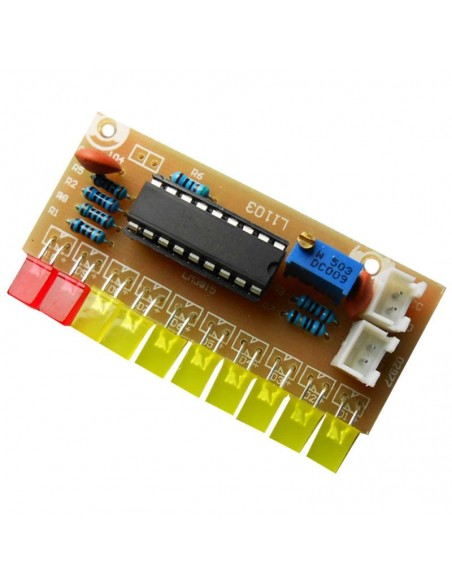 LM3915 10 segment Audio Level Indicator LED