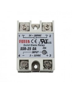1ch Solid State Relay SSR 25A with Protective Flag