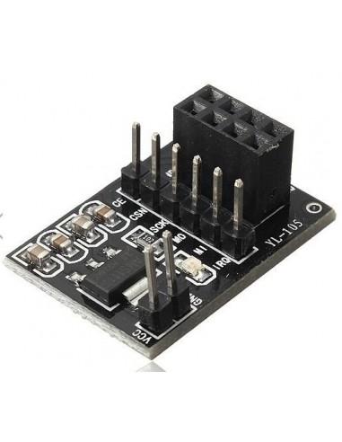 Socket adapter for NRF24L01, with regulator 3.3V