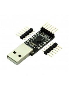 USB-Serial adapter/microcontroller CP2104, 5V/3.3V, digital I/O, USB-A