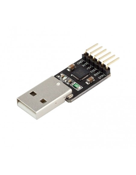 USB-TTL Serial adapter CP2102, 5V/3.3V, USB-A