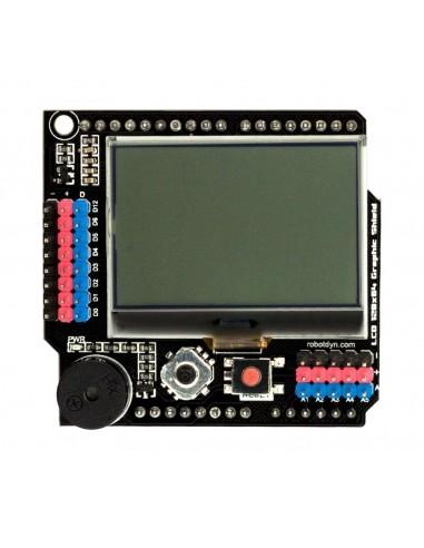 Graphic LCD 128x64 Buzzer Shield compatible for Arduino Uno, Mega 2560, Leonardo