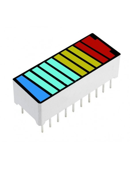 10 Segment 4 Color LED Battery Level Bar