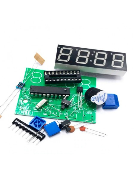 4 Bits Electronic Clock - DIY Kit