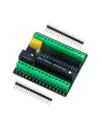 Nano Terminal Expansion Adapter Board with NRF2401+ Expansion Interface and DC Power