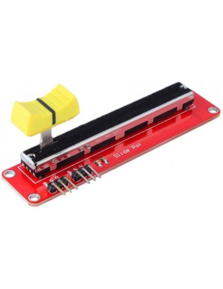 Slide position potentiometer (analog). 10KOhm RED