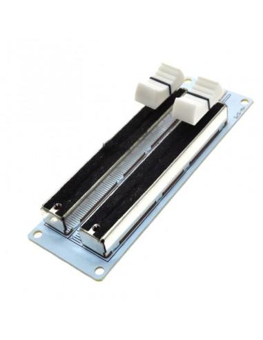 Slide position potentiometer (analog) Double Row 10KOhm