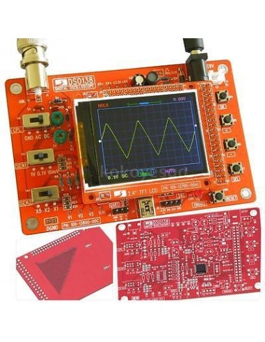 Ciparu oscilogrāfs DSO138 (nav SMD)