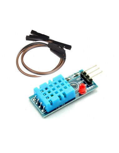 DHT11 Temp and humidity LED