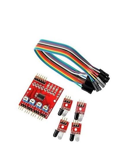 TCRT5000 Sensor tracking (4 channel)